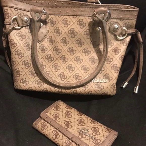 Guess Monogram Purse and Bag